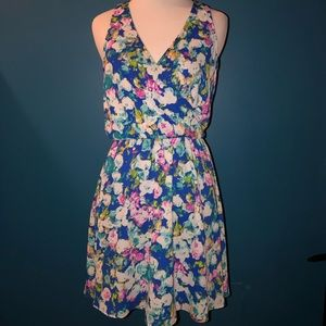 Lush Dresses - Lush multi water colored floral blousen dress